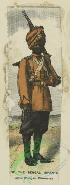 military_fashion-05894 - 208763-Great Britain, colonies, private infantry soldier, punjab pioneers