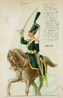 military_fashion-07777 - 101317-Netherlands, 1814-Koningrijk der Nederlanden. Chevau Leger Belge. (1814)
