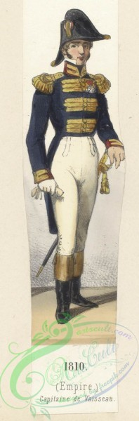 military_fashion-07804 - 101444-Netherlands, 1810-Hollande (Dom. Francais). (Empire). Capitaine de Vaisseau
