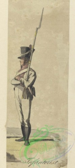 military_fashion-07922 - 101899-Netherlands, 1806-Koninklijk Holland. Infanterist. 1806