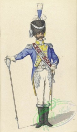 military_fashion-07939 - 101955-Netherlands, 1806-Holland. Tamboer Majoor van de Kongl. Garde. 1806