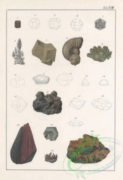 minerals-00520 - 018-Magnetic Pyrites, Spear Pyrites, Magnetic Iron, Iron-Glance, Red Oxide of Iron, Haematite, Brown Iron Ores