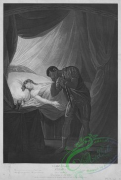 people-00740 - black-and-white 082-Shakspeare (Shakespeare), Othello, Act V, Scene II, Desdemona in bed asleep