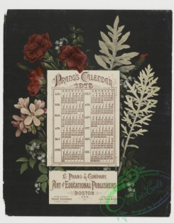 prang_calendars-00001 - 0028-Calendar from 1878 with floral decorations 104654
