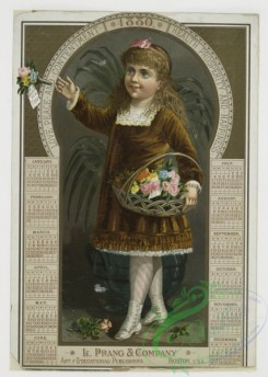 prang_calendars-00003 - 0033-Calendar from 1880 depicting a girl carrying flowers 105154