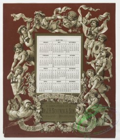 prang_calendars-00005 - 0034-Calendars from 1877 and 1878, depicting flowers and angels 105211