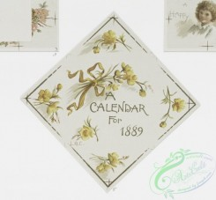 prang_calendars-00010 - 0746-Calendars and Christmas cards depicting flowers and children and sledding 107542