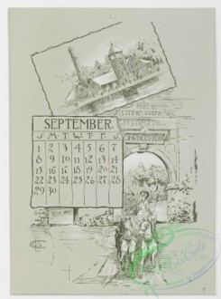 prang_calendars-00021 - 0780-Boston Calendar 1889-Back Bay Park, Harbor View, Chestnut Hill Reservoir, The Charles River, Art Museum, The New Old South 107679