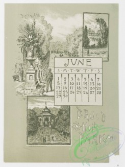 prang_calendars-00028 - 0964-Baltimore Calendar-January, Baltimore from Federal Hill, February, Fort McHenry, Frozen In, March, Pratt Free Library, Peabody Institute, April, S 108415