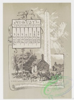prang_calendars-00043 - 0970-Washington Calendar, 1890, July-December-U.S. Capitol, The Monument, Old Lockhouse, Bureau of Engraving and Printing, Morton Mansion, Massachuse 108442
