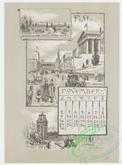 prang_calendars-00044 - 0970-Washington Calendar, 1890, July-December-U.S. Capitol, The Monument, Old Lockhouse, Bureau of Engraving and Printing, Morton Mansion, Massachuse 108443