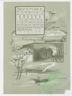 prang_calendars-00046 - 0970-Washington Calendar, 1890, July-December-U.S. Capitol, The Monument, Old Lockhouse, Bureau of Engraving and Printing, Morton Mansion, Massachuse 108445