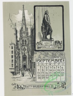 prang_calendars-00057 - 0975-New York Calendar 1890, July-December-General Grant's Tomb, Riverside Park and the Hudson, Central Park, The Belvedere, The Obelisk, The Lake, T 108465