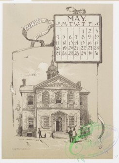 prang_calendars-00062 - 0976-Philadelphia Calendar, 1890, January-June-The Historical Society, The Old Swede's Church, Pennsylvania Academy of Fine Arts, The New City Hall, 108470