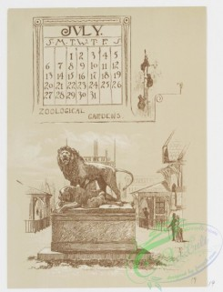 prang_calendars-00065 - 0978-Philadelphia Calendar, 1890, July-December-Zoological Gardens, The House in which the American Flag was made, General Washington's House in Germ 108475