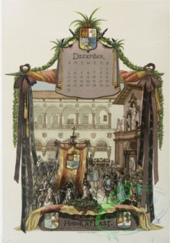 prang_calendars-00076 - 1127-The life of Columbus in pictures-The farewell to Cadiz, The first sight of land, In his old age, Honor at last 100450