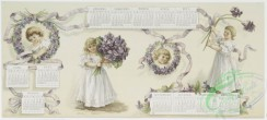 prang_calendars-00080 - 1176-(A calendar of 1894 and Christmas cards-'my lady of spring,' 'whispers of spring,' depicting purple flowers, ribbon, girls, wreaths and spring land 100649