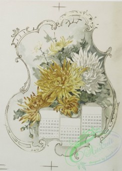 prang_calendars-00082 - 1233-Calendars depicting purple, yellow and white flowers 100952