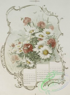 prang_calendars-00083 - 1234-Calendars depicting red, yellow and white flowers, bees, a butterfly 100953