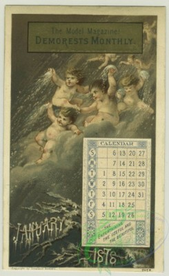 prang_calendars-00087 - 1280-Trade cards and calendars depicting chess playing, cherubs throwing snowballs, badminton, 7th Regiment Armory, bows and arrows, store locations includ 101049