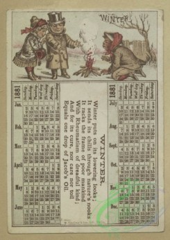 prang_calendars-00095 - 1657-Calendars and trade cards depicting cats, dogs, adults, children, angels, butterflies, flowers, kite, winter, spring, a barn yard and a fire 102873