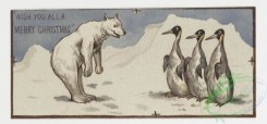 prang_cards_animals-00004 - 0062-Christmas and New Year cards depicting elves and animals-owls, polar bears, penguins, birds, giraffes, alligators 107030