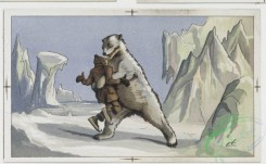 prang_cards_animals-00013 - 0090-Christmas and New Year cards depicting polar bear, ice skaters, and flowers 108227