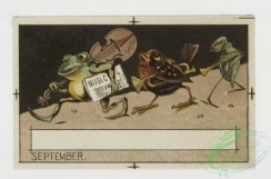 prang_cards_animals-00018 - 0094-Calendar depicting insects, animals, pumpkins 108354