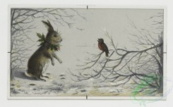 prang_cards_animals-00025 - 0148-Christmas, New Year, and birthday cards depicting winter landscapes with dogs, rabbits, birds, and flowers 102045