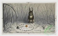 prang_cards_animals-00027 - 0148-Christmas, New Year, and birthday cards depicting winter landscapes with dogs, rabbits, birds, and flowers 102047