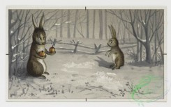 prang_cards_animals-00028 - 0148-Christmas, New Year, and birthday cards depicting winter landscapes with dogs, rabbits, birds, and flowers 102048
