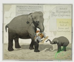 prang_cards_animals-00030 - 0211-Christmas cards depicting elephants, owls, flowers, winter scenes and the moon 104070