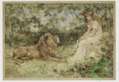prang_cards_animals-00055 - 0414-Valentine Lion in Love 105647