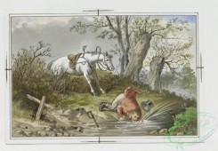 prang_cards_animals-00083 - 059-Christmas and New Year cards with message-'Hang sorrow Care will kill a cat and therefore let's be merry', equestrian scenes 106883