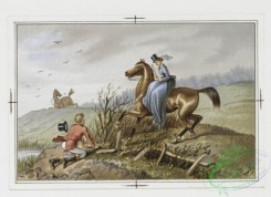 prang_cards_animals-00085 - 059-Christmas and New Year cards with message-'Hang sorrow Care will kill a cat and therefore let's be merry', equestrian scenes 106885