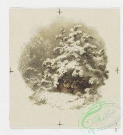 prang_cards_animals-00089 - 0653-Calendar for 1888 depicting flowers, cards depicting snowy winter scenes, Easter cards depicting flowers 107127