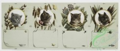 prang_cards_animals-00128 - 0877-Christmas and New Year cards depicting cats, books, mice, bowls of milk, birds, butterflies, fish, pussy willow, catnip, and cattails 108112