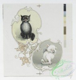 prang_cards_animals-00167 - 1203-Valentines and Easter cards depicting cats, cupids, flowers, birds, pussy willow and the earth 100790