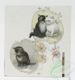 prang_cards_animals-00168 - 1203-Valentines and Easter cards depicting cats, cupids, flowers, birds, pussy willow and the earth 100791