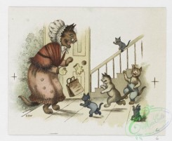prang_cards_animals-00176 - 1216-Christmas and text cards depicting landscapes, sunsets, sailboats and cats in human situations-dressed in clothing, cooking, reading, sleeping in 100856