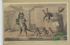 prang_cards_animals-00245 - 1657-Calendars and trade cards depicting cats, dogs, adults, children, angels, butterflies, flowers, kite, winter, spring, a barn yard and a fire 102870