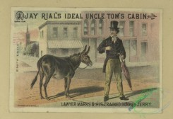 prang_cards_animals-00262 - 1698-Trade cards depicting flowers, streets, men, dogs, elephants, horses, a donkey, a goat and thread 103172