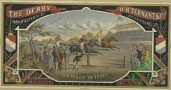 prang_cards_animals-00265 - 1720-(An advertisement depicting a horse race, spectators and stands.) 103351