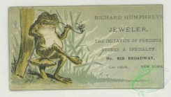prang_cards_animals-00271 - 1743-Trade cards depicting frogs, leapfrog, cows, a sailboat, strawberries, birch bark and flowers 103430