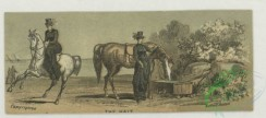 prang_cards_animals-00277 - 1755-Trade cards depicting women, a man horseback riding, a water trough, the ocean, children, a farm, and cows. 103491