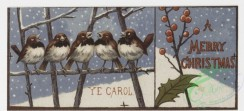prang_cards_birds-00004 - 0062-Christmas and New Year cards depicting elves and animals-owls, polar bears, penguins, birds, giraffes, alligators 107031