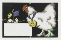 prang_cards_birds-00015 - 0100-Cards for the United States Centennial depicting flags, roosters, eagles, lions and humorous illustrations 100025
