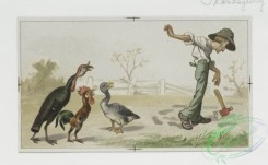 prang_cards_birds-00016 - 0106-Thanksgiving cards depicting people and turkeys, Valentines with women and Cupid 100267