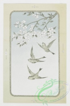 prang_cards_birds-00027 - 0183-Easter cards depicting birds, plants, and flowers 103871