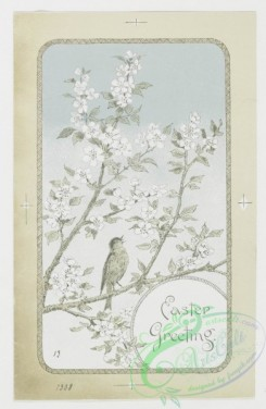 prang_cards_birds-00028 - 0183-Easter cards depicting birds, plants, and flowers 103872